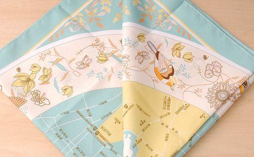 将城市/景区等手绘地图以丝巾